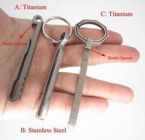 Outdoor-Keyring-Titanium-Buckle-Ring-Hike-Belt-Clip-Clamp-Bottle-Opener-Keychain
