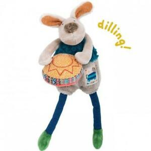 Moulin-Roty-Les-Zig-et-Zag-Zacky-Drum-Playing-Dog-Baby-Rattle-Soft-Toy-Plush