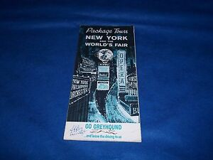 Details about Vintage 1964-65 New York World's Greyhound Bus Schedule and  Prices