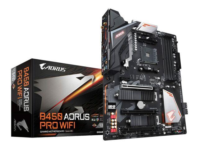 Gigabyte AMD B450 AORUS PRO ATX WiFi Motherboard AM4 GA-B450-AORUS-PRO-WIFI