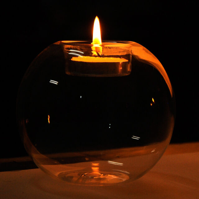 2015 Round hollow glass candle holder wedding fine candlestick dining home decor