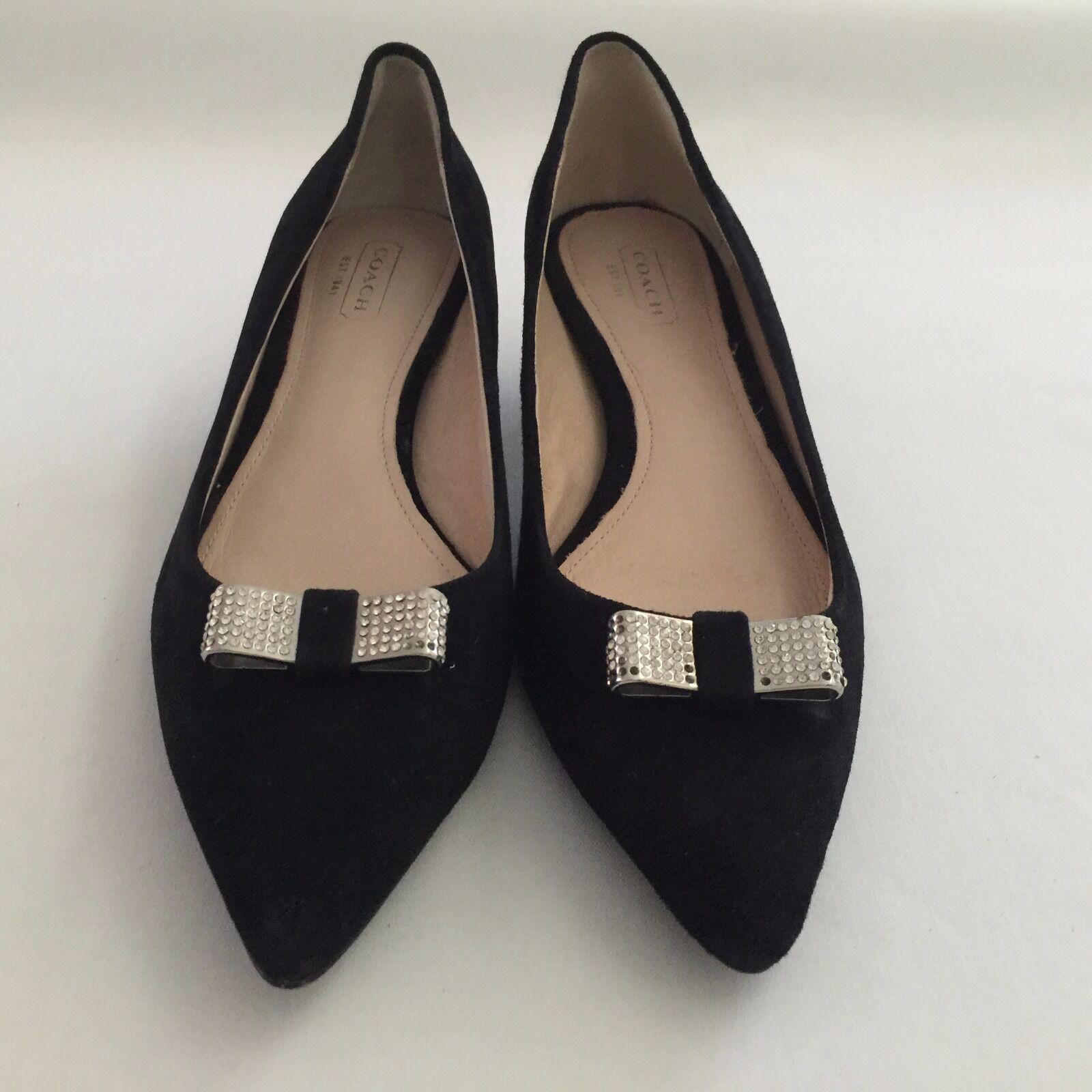 Nuevo De Gamuza Cuero Negro Entrenador Zapatos De Nuevo Salón Tacones gatito del Rhinestone al por menor  198.00 22d2d8