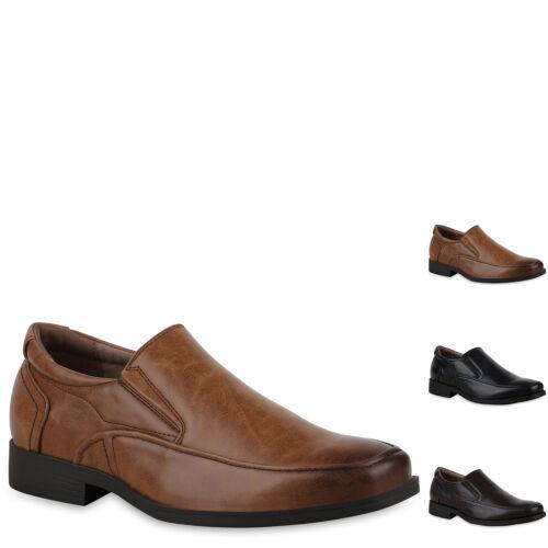 895676 Herren Business Schuhe Slippers Leder-Optik Slip Ons Mens Special