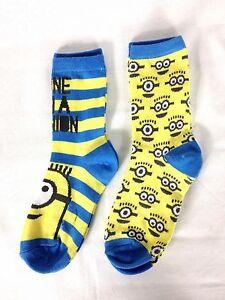 Officiel-meprisable-me-chaussettes-pack-de-2-melange-enfants-uk-1-6-junior-minion-D333-25