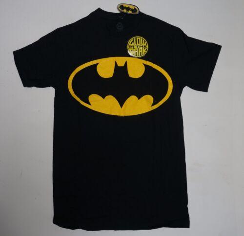 Batman Symbol DC Comics Jaune Original Noir Foncé Glow in Dark neuf sans Original étiquettes S-2XL B1