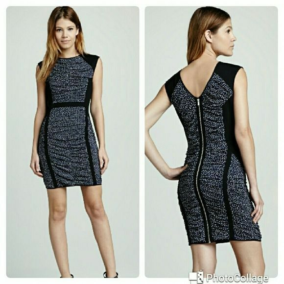 NWT Rebecca Minkoff Dotted Fitted Dress - US 6, AU 10