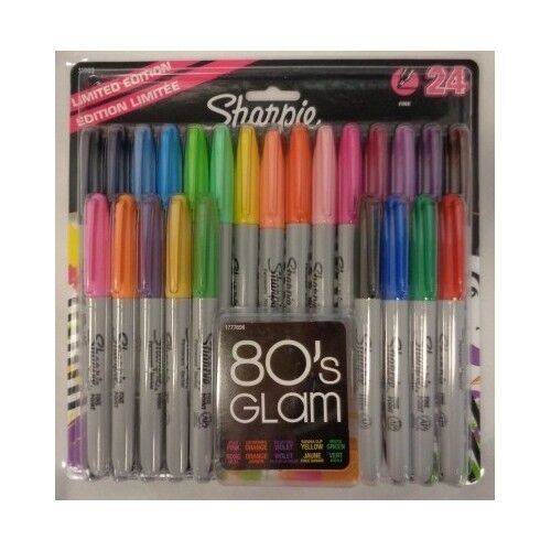 Sharpie Permanent Marker Fine Point Assorted Bright Color 24 Pack Artist Office