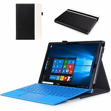Microsoft Surface Pro 4 Case Folio Keyboard Built-in Stand Leather Soft