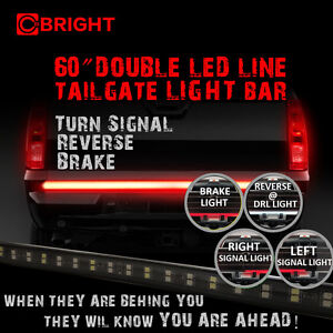 60 led tailgate light bar turn signal reverse brake glow pickup image is loading 60 034 led tailgate light bar turn signal aloadofball Gallery