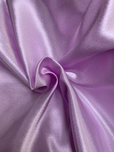 """Lilas Satin crêpe dos tissu 58/"""" couture vêtements Craft Demoiselle D/'honneur Mariage"""