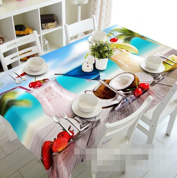 3D Fruit Juice 10 Tablecloth Table Cover Cloth Birthday Party Event AJ WALLPAPER