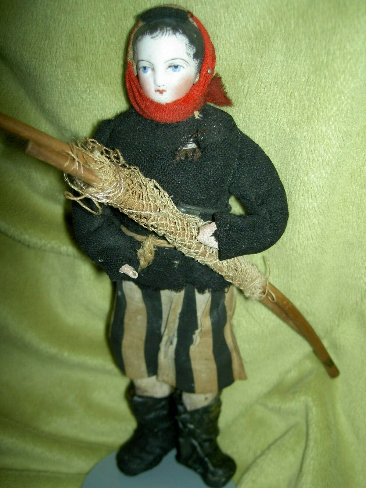 Very RARE antique bisque French FG  female fisherdonna bambola by Francois Gaultier  marche online vendita a basso costo