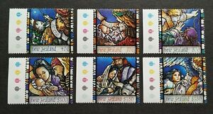 1996-New-Zealand-Christmas-Celebration-6v-Stamps-Mint-NH-colour-code-tabs