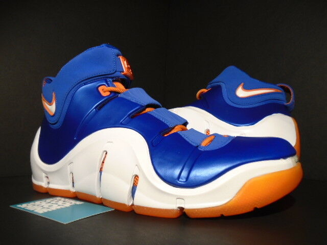 2018 NIKE ZOOM LEBRON IV 4 BIRTHDAY NEW YORK KNICKS ROYAL BLUE ORANGE WHITE 11 The most popular shoes for men and women