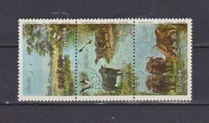 S19126) Brasil Brazil MNH New 1984 Buffalos 3V