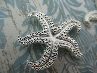 5 x19mm Tibetan Silver Star Fish Starfish Charms Pendant Beading FREE UK P+P i14
