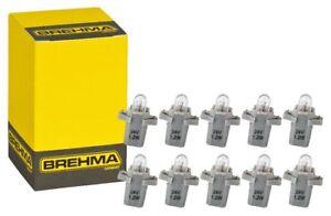 10x BREHMA  B8,3d BAX10s Grau Instrumentenbeleuchtung 24V 1,2W Tachobeleuchtung