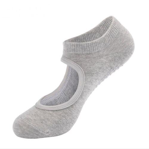 For Womens Cotton Socks Non Slip Yoga Barre Skid Pilates Barre Grips Ballet Sock