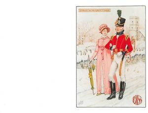 GREETINGS-CHRISTMAS-CARD-MILITARY-ROYAL-SOUTH-GLOUCESTERSHIRE-MILITIA-1805