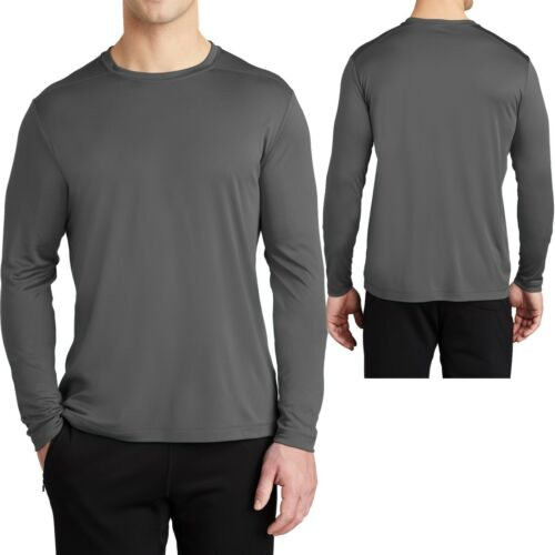Mens Long Sleeve UPF 50 Fishing T-Shirt UV Boat Moisture Wicking XS-XL 2X 3X 4X