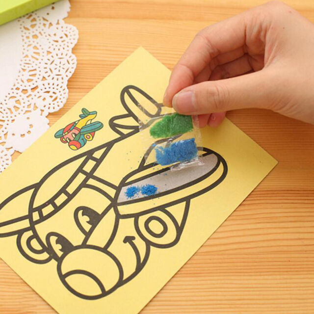 Colorful 5Pcs Kids DIY Sand Painting Art Creative Drawing Toys for Children