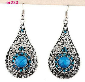 nice-blue-Tibet-Silver-exquisite-Crystal-Earrings-er233