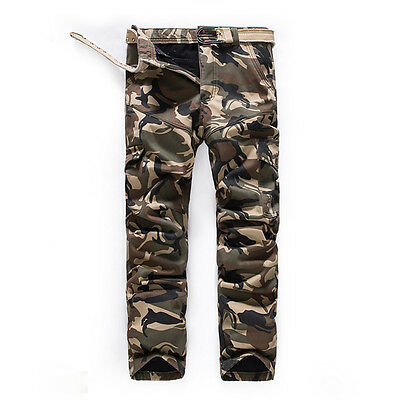 Mens Military Combat Camo Cargo Shorts Pants Short Trousers Army Casual Bottoms