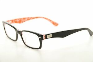 66f313e255 New Authentic Ray Ban RB 5206 2479 Black Red Print 52mm Frames ...