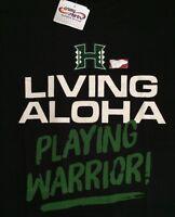 Mens L/xl Crazy Shirts University Of Hawaii Uh Warrior Football live Aloha