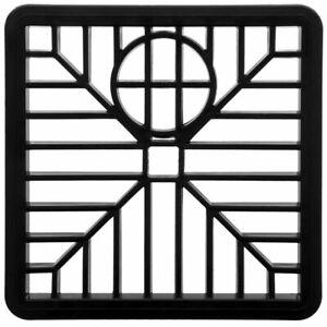 "Drain Cover 6"" SQUARE 150mm Black Plastic Grate Gulley Grid Leaf Guard Gutter"