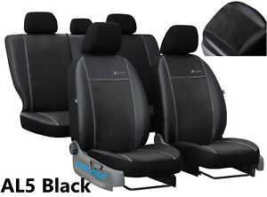 FIAT PANDA MK3 2012 ON ARTIFICIAL LEATHER /& ALICANTE TAILORED FRONT SEAT COVERS