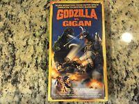 Godzilla Vs Gigan Rare Sealed Starmaker Vhs 1972 Gojira Monster Creature