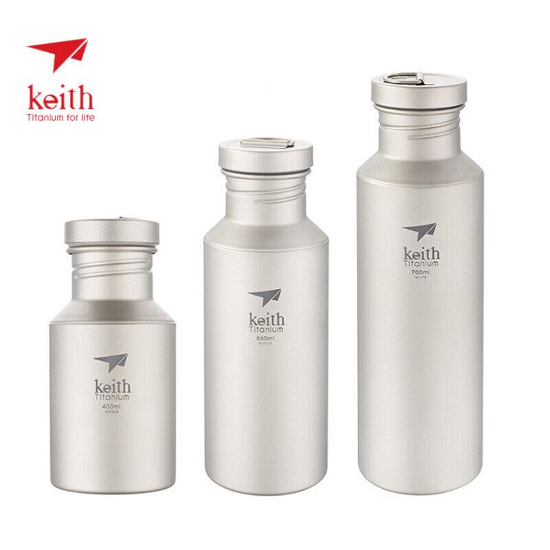 Keith Ligero Titanio Botella de Agua con Tapa de  titanio Deporte Ciclismo Botella  a precios asequibles