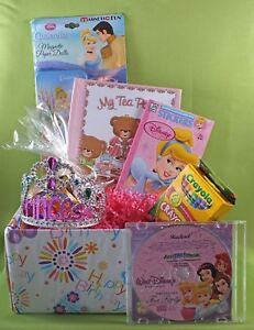Princess-Tea-Party-GiftBasket-personalized-CD-amp-Book-GREAT-GIFT-name-in-CD-amp-book