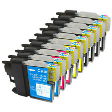10 INK NON-OEM BROTHER LC61 LC-61 MFC-295CN MFC490CW MFC-495CW MFC-5490CN 5890CN