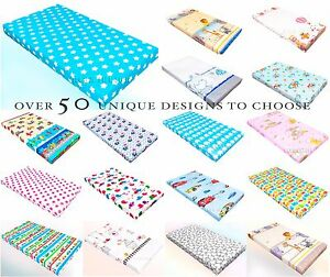 Baby-Fitted-amp-Flat-sheet-PRAM-MOSES-BASKET-CRIB-CRADLE-100-Cotton-patterned
