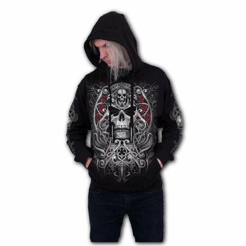 SPIRAL DIRECT REAPER/'S DOOR Hoody//Reaper//Skull//Biker//Tattoo//Goth//Skull//Hood