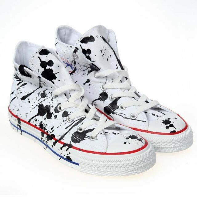 32fe60fe6cc7 Converse All Star Chuck Taylor SNEAKERS Paint Splatter High Top Sz ...
