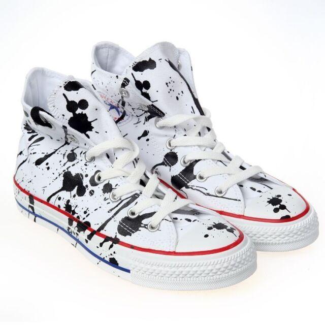 Converse All Star Chuck Taylor Sneakers Paint Splatter High Top Sz