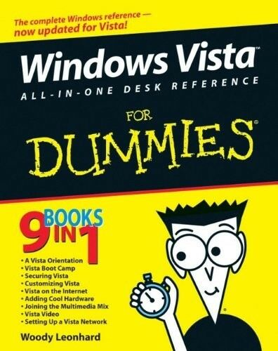 1 of 1 - Very Good, Windows Vista All-in-One Desk Reference for Dummies, Woody Leonhard,