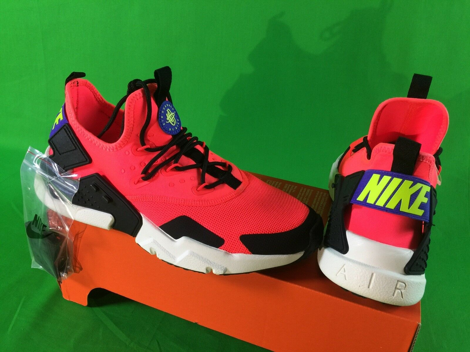 Nike air huarache Uomo taglia 9 promo campione inedito azioni di formazione scarpe nuove