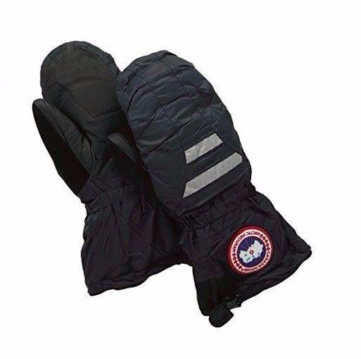 Canada Goose Altitude Down Black Snowboard Ski Reflective Mitt Gloves M Mens