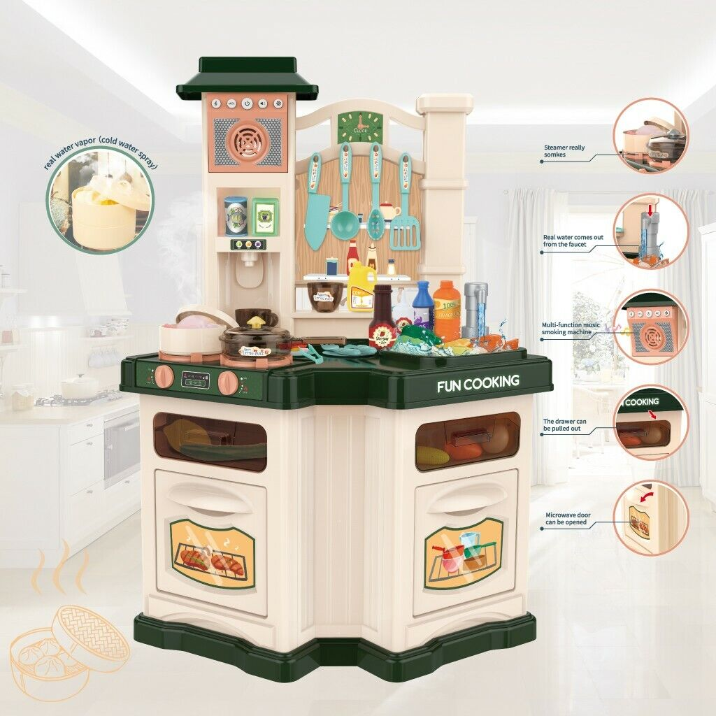 Kitchen Play Set For Kids Playset Toy Boys