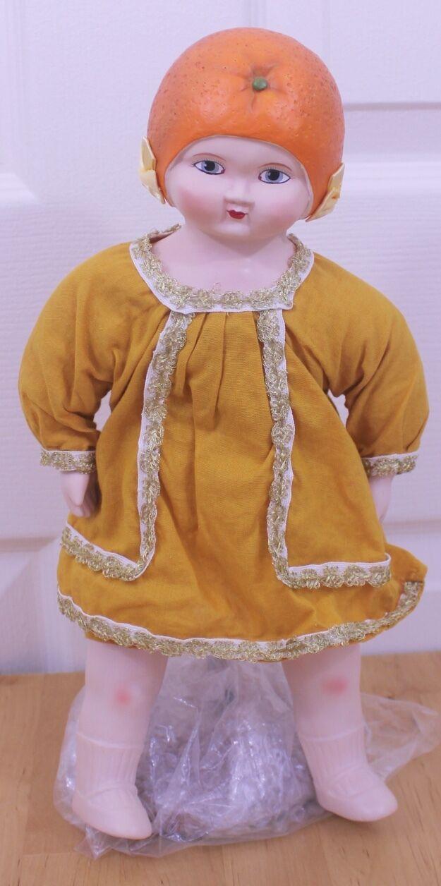 Louis Amberg La&s Sunny naranja Blossom Maid Muñeca Biscuit reproducción 1924