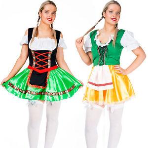 Womens-Oktoberfest-Costume-German-Bavarian-Beer-Wench-Girl-Maid-Sexy-Fancy-Dress