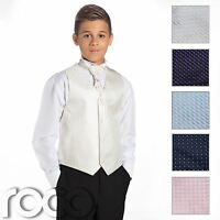 Boys Waistcoat Suit, Page Boy Suits, Boys Wedding Suits, Black Trousers