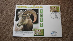 2005-AUSTRALIAN-ALPHA-STAMP-ISSUE-FDC-DOWN-ON-THE-FARM-GILBERT-THE-GOAT