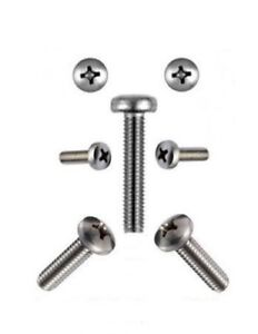 Linsenschrauben 1.6 mm M1.6 DIN 7985  1,6 x 3 bis 1,6 x 16 Edelstahl