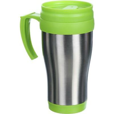 Halfords Travel Camping Hiking Reusable Hot Cold Drink Mug Portable - 16oz