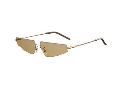 Adattabile Occhiali Da Sole Fendi Ff M0054/s Metallo Oro Marrone 01q/70